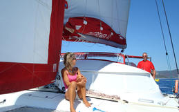 Catamaran for rent with skipper